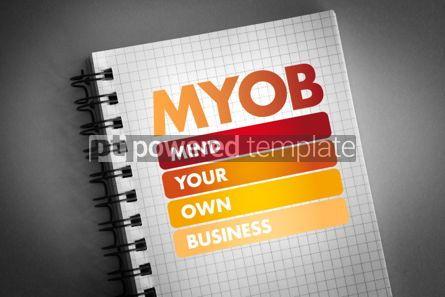 Business: MYOB - Mind Your Own Business acronym #06412