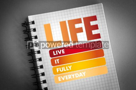 Business: LIFE - Live It Fully Everyday acronym #06413