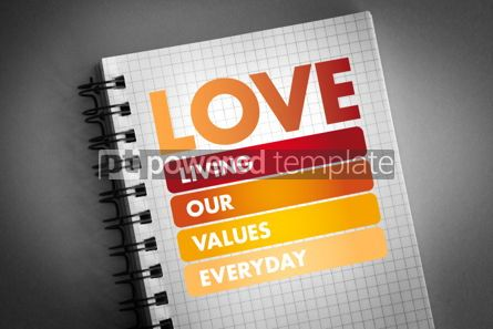 Business: LOVE - Living Our Values Everyday acronym #06415
