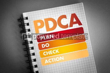 Business: PDCA - Plan Do Check Action acronym #06426