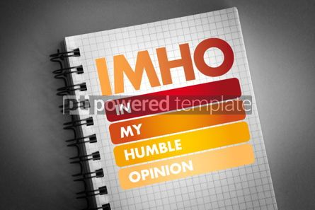 Business: IMHO - In My Humble Opinion acronym #06430