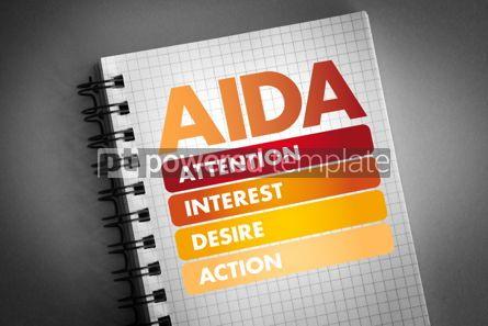 Business: AIDA (marketing) acronym business concept #06431