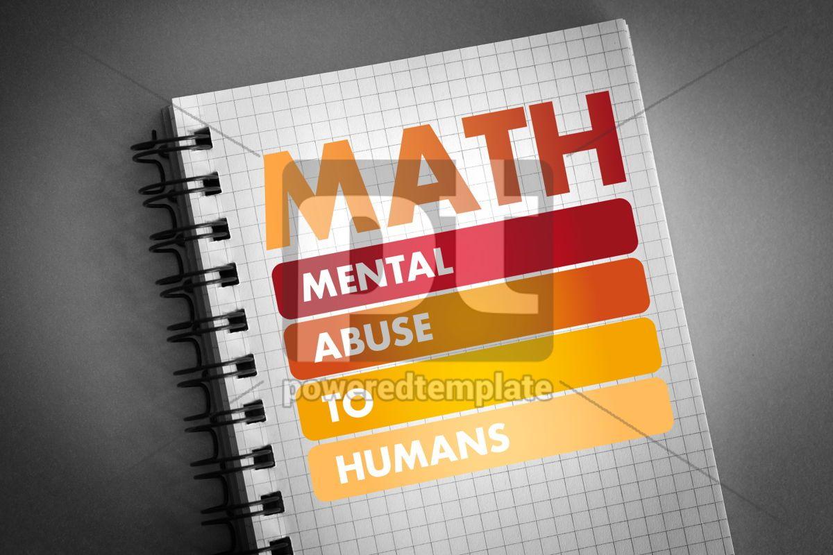 MATH - Mental Abuse To Humans acronym, 06432, Business — PoweredTemplate.com
