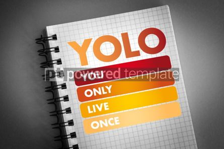 Business: YOLO - You Only Live Once acronym #06433