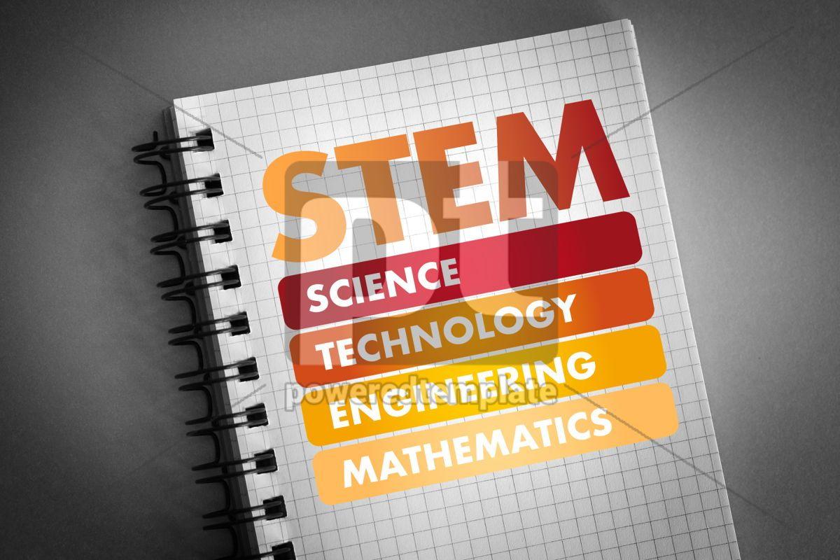 STEM acronym education concept background, 06443, Business — PoweredTemplate.com
