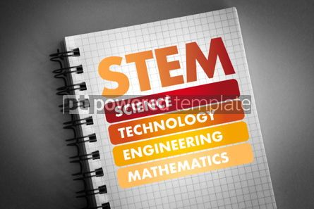 Business: STEM acronym education concept background #06443