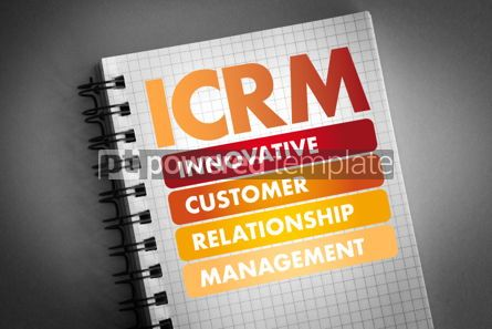 Business: ICRM acronym business concept background #06461