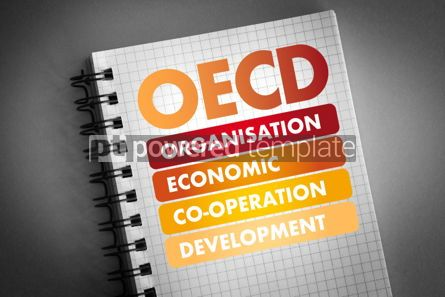 Business: OECD acronym business concept background #06476