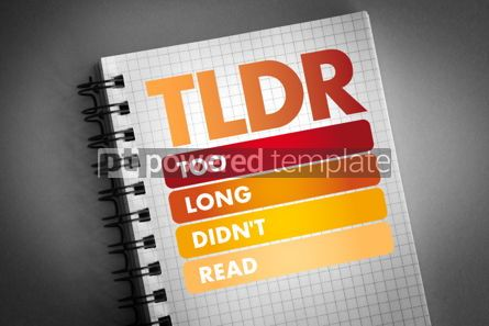 Business: TLDR - Too Long Didn't Read acronym #06479