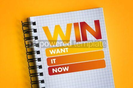 Business: WIN - Want It Now acronym #06498