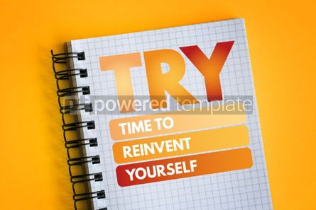 Business: TRY - Time to Reinvent Yourself acronym #06502
