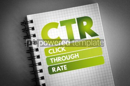 Business: CTR - Click Through Rate acronym #06522