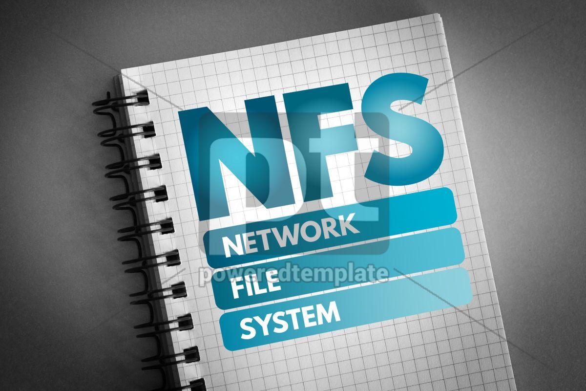 NFS - Network File System acronym, 06575, Technology — PoweredTemplate.com