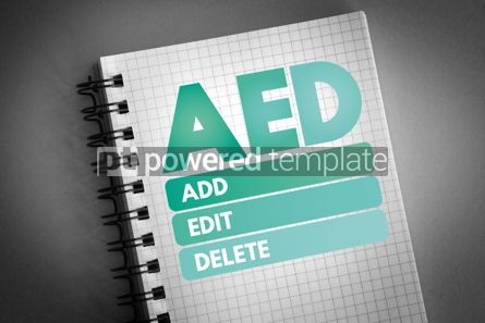 Business: AED - Add Edit and Delete acronym #06596