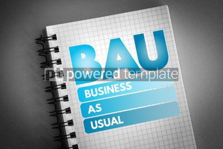 Business: BAU - Business as Usual acronym #06642