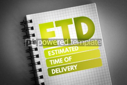 Business: ETD - Estimated Time of Delivery acronym #06766