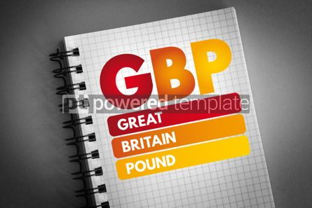 Business: GBP - Great Britain Pound acronym #06822