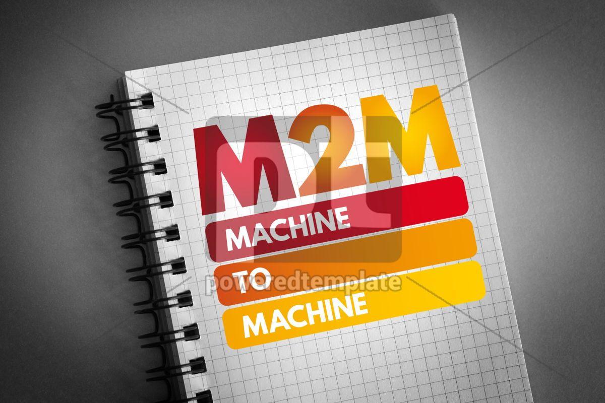 M2M - Machine to Machine acronym, 06837, Business — PoweredTemplate.com