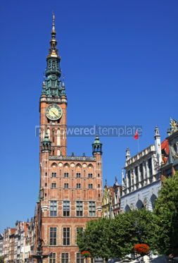 Architecture : Old Town Hall in City of Gdansk Poland #06851