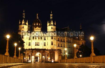 Architecture : Schwerin Castle (Schweriner Schloss) at night Germany #06855