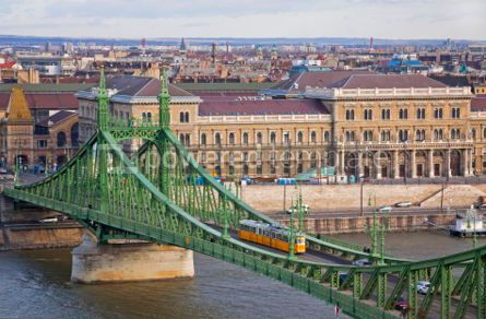 Architecture : Liberty Bridge over Dunabe river in Budapest Hungary #06861