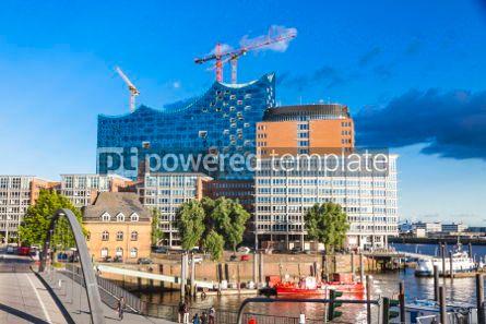 Architecture : Speicherstadt district with Elbphilharmonie building in Hamburg #06872
