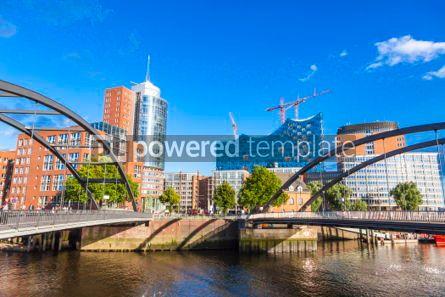 Architecture : Speicherstadt district with Elbphilharmonie building in Hamburg #06873