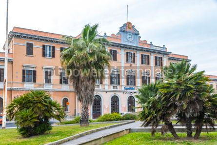 Architecture : Sassari railway station (Stazione di Sassari) Sardinia Italy #06892