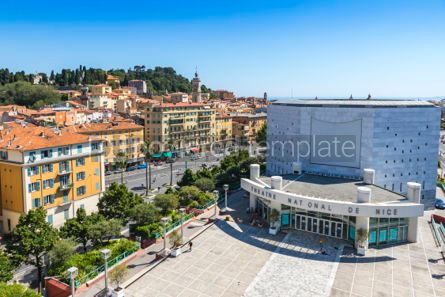Architecture : National Theater of City of Nice (Theatre National de Nice) Fra #06896