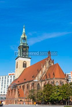 Architecture : St. Mary's Church (Marienkirche) in Berlin Germany #06897