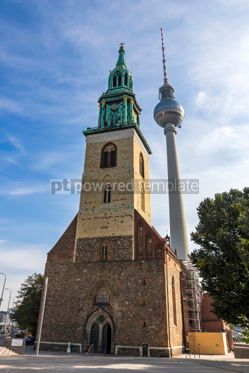 Architecture : St. Mary's Church (Marienkirche) in Berlin Germany #06903