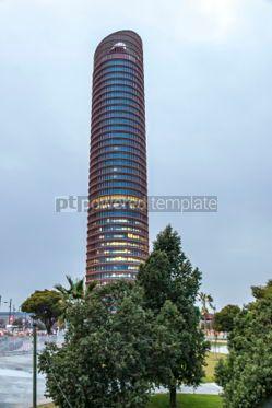 Architecture : Sevilla Tower office skyscraper in Seville city Spain #06910