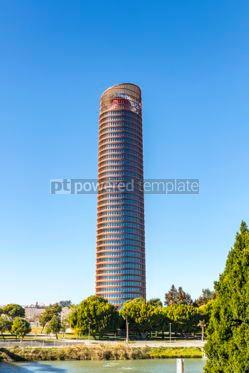 Architecture : Sevilla Tower office skyscraper in Seville city Spain #06914