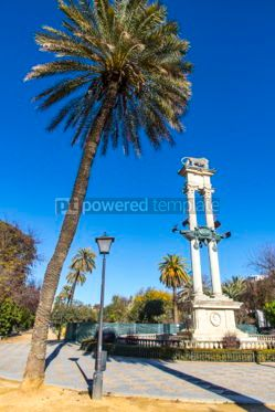 Architecture : Columbus Monument in Jardines de Murillo Seville Spain #06916