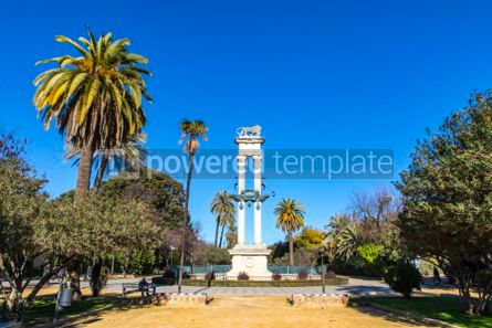 Architecture : Columbus Monument in Jardines de Murillo Seville Spain #06917