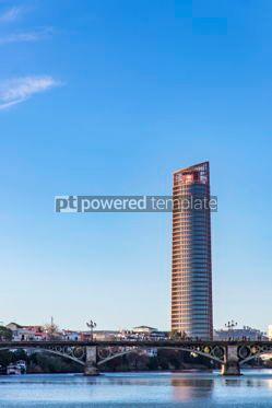 Architecture : Sevilla Tower office skyscraper in Seville city Spain #06918