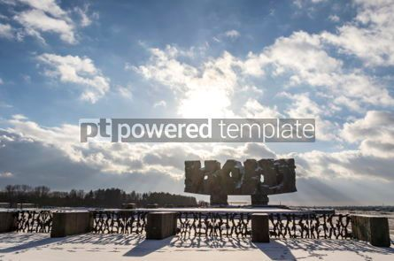 Architecture : Monument to Struggle and Martyrdom in Majdanek concentration cam #06920
