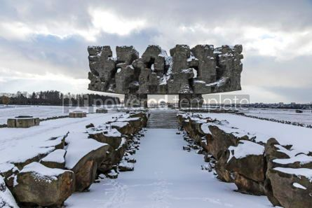 Architecture : Monument to Struggle and Martyrdom in Majdanek concentration cam #06921