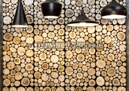 Abstract: Wall with wooden decorative panels #06940