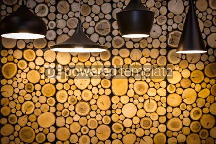 Abstract: Wall with wooden decorative panels #06941