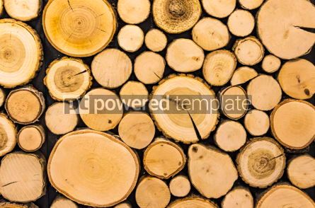 Abstract: Wall with wooden decorative panels. Natural background #06945
