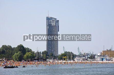 Nature: Crowded Municipal beach in Gdynia Baltic sea Poland #06963