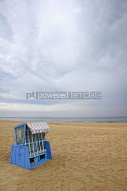 Nature: Hooded beach chair at the Baltic sea #06968