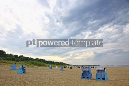 Nature: Hooded beach chairs at the Baltic sea in Heringsdorf Germany #06969