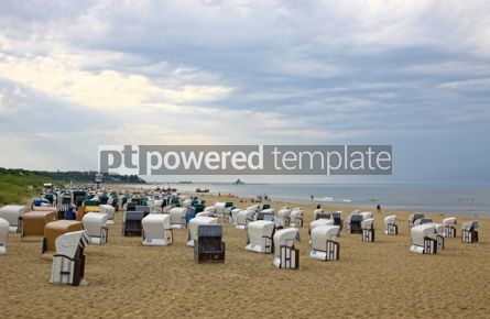 Nature: Hooded beach chairs at the Baltic sea in Heringsdorf Germany #06970