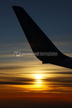 Transportation: Sunrise over clouds at 30000 feet in the air with contour of ai #07008
