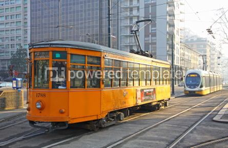 Transportation: Trams on the street of Milan #07009