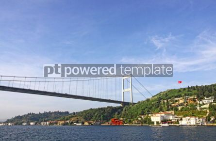 Transportation: Fatih Sultan Mehmet Bridge over Bosphorus strait in Istanbul #07011