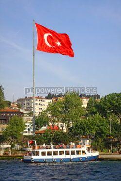 Transportation: Ferry boat in Golden Horn Gulf in Istanbul #07012