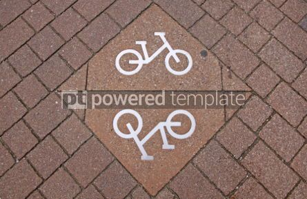 Transportation: Bicycle sign on the road #07014